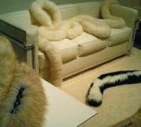 Materiale pufoase şi moi pentru decorul de toamnă