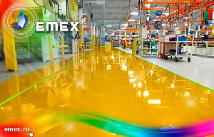 Vopsea poliuretanica pentru pardoseli Emex: un produs complet, cu aplicabilitate variata, marca Romtehnochim