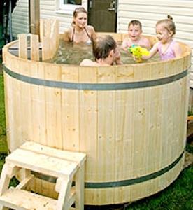 ciubar - Hot tub din lemn