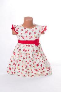Rochita pentru fetite cu imprimeu floral roz - BBN1092
