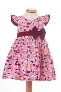 Rochita de fetite cu imprimeu cu figuri geometrice - BBN1096