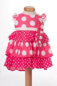 Rochita bebeluse roz cu volanase - BBN1058