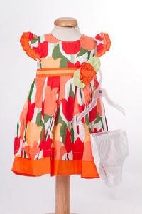 Rochite bebeluse cu imprimeu portocaliu- BBN1043