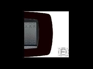 Placa ornament technopolimer, 2 module, negru indigo