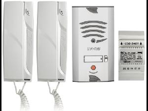KIT VILA AUDIO 4+N fire, set telefoane uz casnic, 4 receptoare, 1 buton