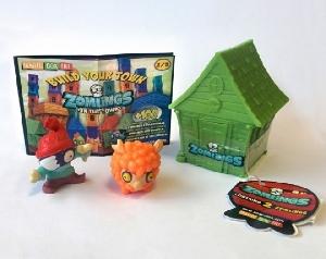 Pachet 12 buc Casuta cu doua figurine Zomlings Magic Box,