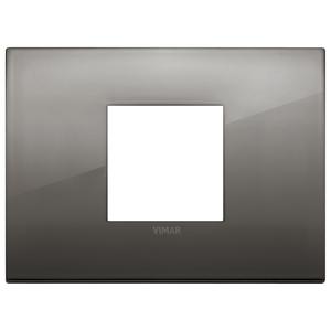 Rama ornament 2 module centrale Metal Black Chrome Vimar Arke