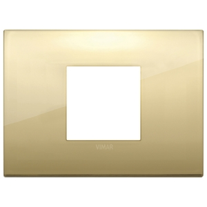 Rama ornament 2 module centrale Metal Gold Vimar Arke