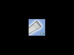 Corp de iluminat protejat la umezeala si praf, 2X58W HF-S, FIPAD 05, dispersor PC,  ELBA
