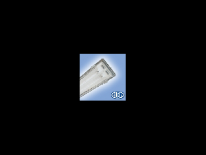 Corp de iluminat protejat la umezeala si praf, 2X14W HF-S,  FIPAD 05  T5, dispersor PC,  ELBA