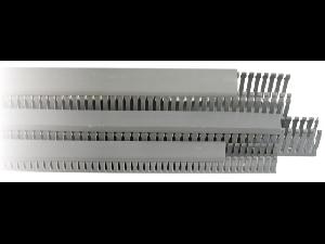 Canal slitat pentru cabluri, gri 25 x 40
