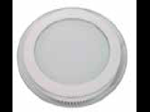 Panel LED spot din sticla, rotund alb cald - 12W, VT- 1202 G