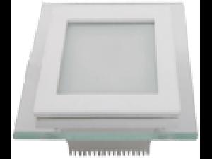 Panel LED spot din sticla, patrat  alb cald- 12W, VT- 1202 G