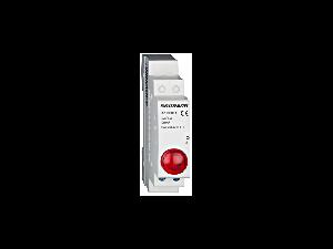 Lampa modulara simpla cu LED, AMPARO, rosu, 230V-AC