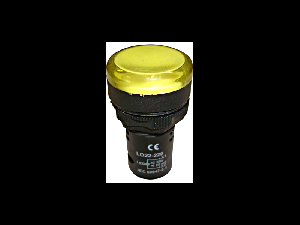 Lampa de semnalizare cu LED, monobloc, 24V-AC/DC, galben