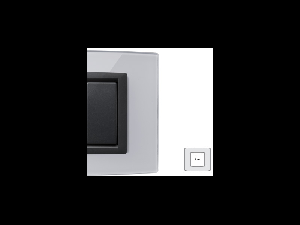 Placa Vitra sticla gheata, 2 module, mod comanda gri