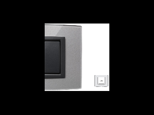 Placa Vitra sticla titan sclipitor, 2 module, mod comanda gri