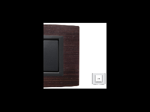 Placa Vitra lemn nuc natural, 2 module, mod comanda gri