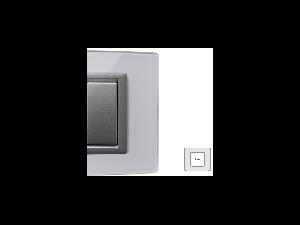 Placa Vitra sticla gheata, 2 module, mod comanda argintiu