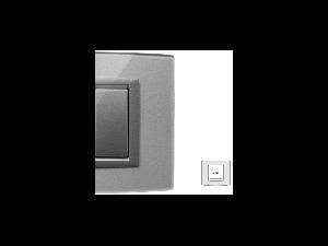 Placa Vitra sticla titan sclipitor, 2 module, mod comanda argintiu