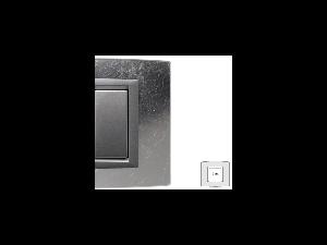 Placa Vitra sticla frunza de argint, 2 module, mod comanda argintiu