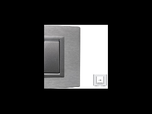 Placa Vitra aluminiu, 2 module, mod comanda argintiu