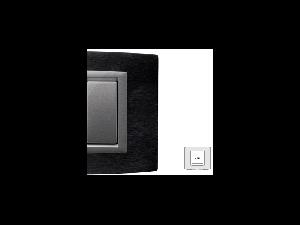 Placa Vitra aluminiu antracit, 2 module, mod comanda argintiu