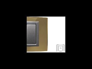 Placa Vitra sticla oglinda de aur, 2 module, mod comanda argintiu