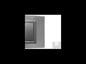 Placa Vitra sticla oglinda de argint, 2 module, mod comanda argintiu