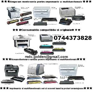 Cartuse ptr. imprimante, multifunctionale, copiatoare si faxuri.