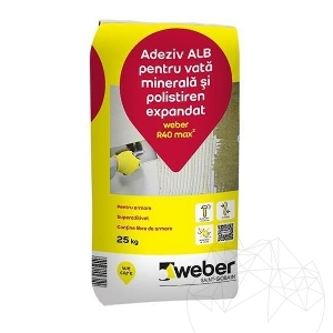 Adeziv alb pentru vata minerala si polistiren expandat - Weber R40 max�