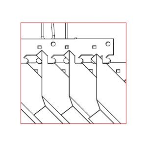Traversa pentru tavan metalic tip lamela V100