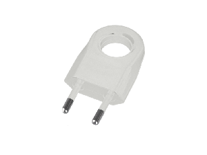 TWO PIN PLUG WITH EXTRACTION RING 6A WHITE