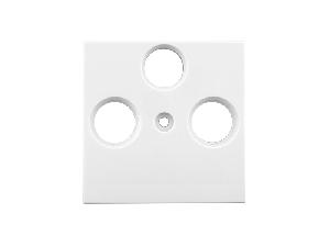 Masca pentru priza TV, tip HSAT cu 3 decupaje, alb