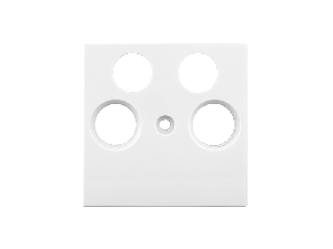 Masca pentru priza TV, tip HSAT, cu 4 decupaje, alb
