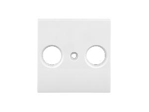 Masca pentru priza TV, tip HSBK, cu 2 decupaje, alb