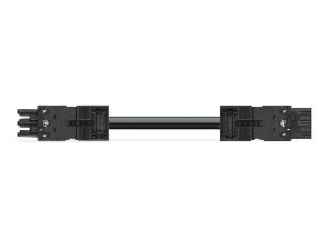 pre-assembled interconnecting cable; Eca; Socket/plug; 3-pole; Cod. A; H05VV-F 3G 1.5 mm²; 8 m; 1,50 mm²; black