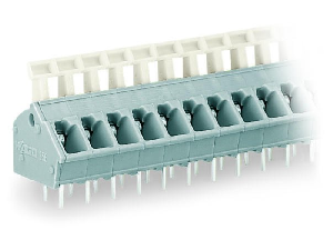 PCB terminal block; push-button; 2.5 mm²; Pin spacing 5/5.08 mm; 9-pole; CAGE CLAMP®; commoning option; 2,50 mm²; gray