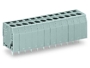 PCB terminal block; 2.5 mm²; Pin spacing 5 mm; 2-pole; CAGE CLAMP®; 2,50 mm²; gray