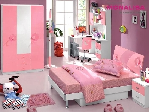 Mobila COPII, Mobila TINERET, Camera Fete Sweet Pink
