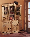Comoda cu Vitrina COD 1504 lemn masiv