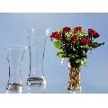 Vaza de flori de sticla transparenta