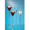 Vaza Martini rosu de sticla cupa ingusta