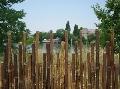 Gard din bambus negru,