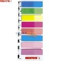 Index autoadeziv Kores  12 x 45 mm  8 culori/set  25 file/culoare