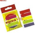 Index autoadeziv Kores  12 x 45 mm  5 culori/set  25 file/culoare