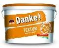 Tencuiala decorativa Danke! Textur pret de la 109,00 ron/gal. tva inclus