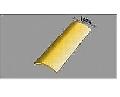 Profil de trecere din aluminiu rotunjit - Auriu