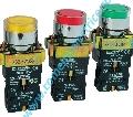 Buton EL 2-BW3471 comanda Rosu cu led semnalizare 24V