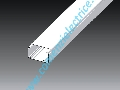 Canal cablu PVC+capac, 2 compartimente, 100x60,alb Kopos